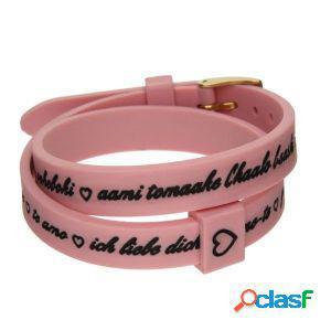 Il mezzo metro bracciale donna i love you gold rosa bmg1712