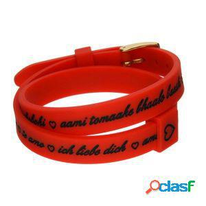 Il mezzo metro bracciale donna i love you gold rosso bmg1709