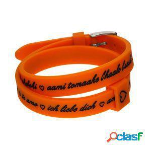 Il mezzometro bracciale donna i love you arancione bm1710