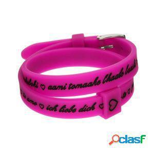 Il mezzometro bracciale donna i love you fuxia bm1708