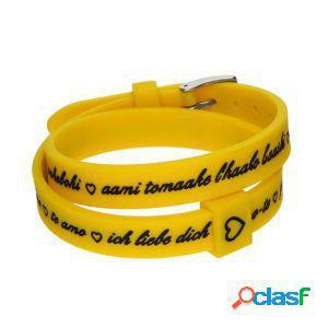 Il mezzometro bracciale donna i love you giallo bm1711