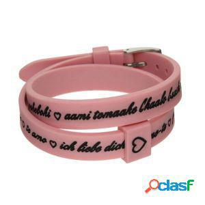 Il mezzometro bracciale donna i love you rosa bm1712