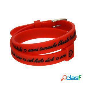 Il mezzometro bracciale donna i love you rosso bm1709