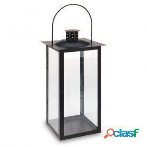 Lanterna in metallo nero 41 x 20 cm