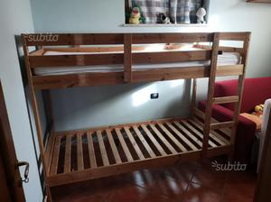 Letto Kura Ikea Istruzioni : Letto a soppalco in legno ikea nattland posot class