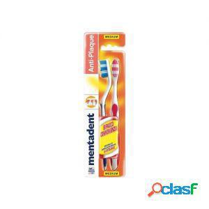 Mentadent spazzolino da denti plus 1 confezione da 2