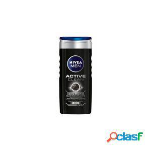 Nivea - men active clean - doccia shampoo gel 250 ml