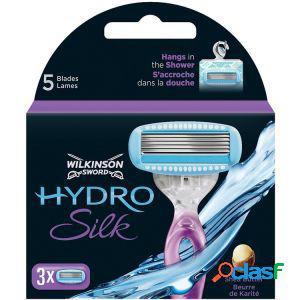 Ricariche 3 lame per rasoio donna wilkinson hydro silk 3