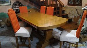 Tavolo in legno massello rovere norvegese