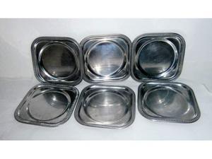 3 set da 6 PZ sottobicchieri acciaio inox