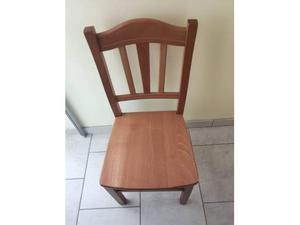 4 sedie in legno massello