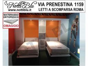 Letti a Scomparsa _ Letto Singolo VE106 Materasso Omaggio