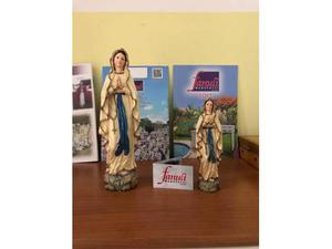 Madonna lourdes pitturata in resina spedizione gratuita