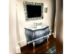 Mobile Bagno Barocco Moderno Bombato Made In Italy Posot Class