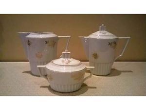 Set zuccheriera lattiera teiera art déco vintage anni 40