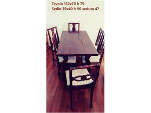 Tavolo fratino sala pranzo 6 posti con sedie in stile