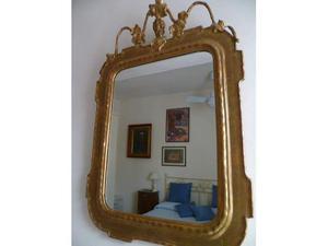 Bella specchiera di fine '800 in foglia oro
