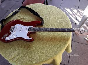 Fender squier affinity rosso mela