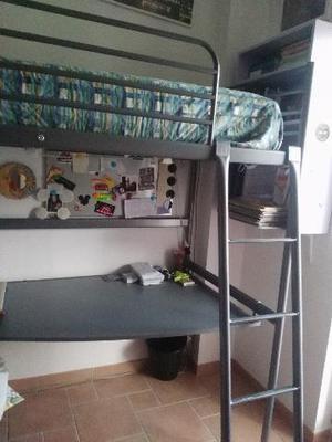 Letto A Castello Ikea Con Tenda.Letto A Soppalco Con Scrivania Ikea 1 Piazza Posot Class