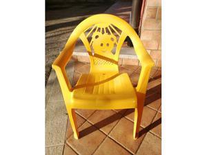 Sedia in plastica piccola per bambini
