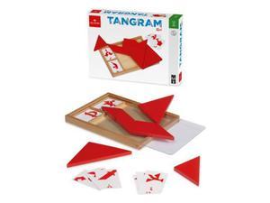 Tangramm in rosso con carte