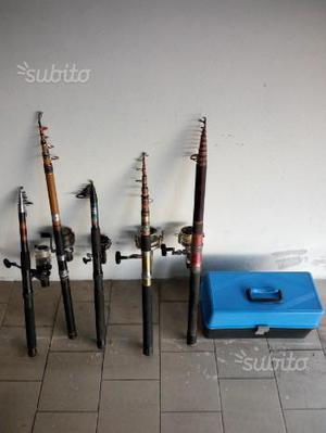 Canne + attrezzatura da pesca