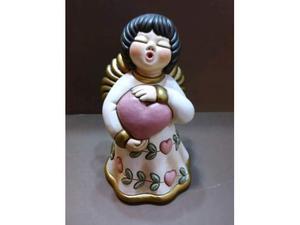 Angelo della pace  in ceramica thun nuovo con scatola
