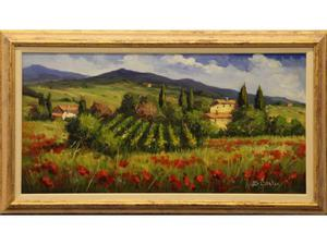 Bruno Chirici pittore olio su tela campagna toscana