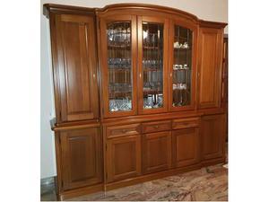 Credenza vetrina in legno più tavolo e n.4 sedie