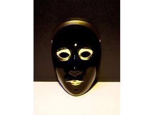 Maschera ceramica nera e oro originale anni 80