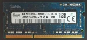 Memoria ram 4GB DDR3 PC ultrabook