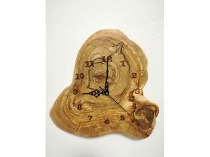 Orologio da parete in legno di ulivo nuovo