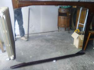 Specchio classico da comò con telaio in legno
