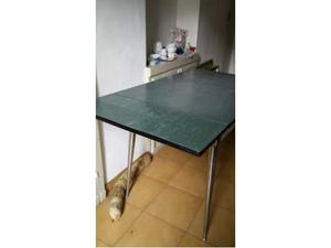 Tavolo con 4 sedie Formica Verde Salvarani anni 70
