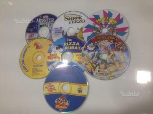 Blocco di 7 cd-rom giochi e cartoni animati