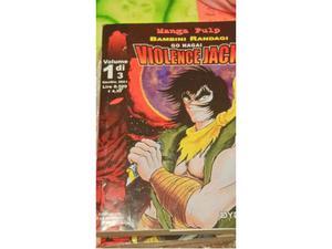 Manga di Go Nagai in 3 volumi prima edizione Violenze Jack