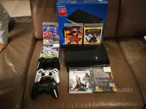 PlayStation 3 slim 12gb 3 joystick e 6 giochi