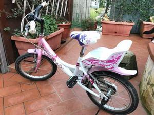 """Bicicletta da bambina 16"""" con rotelle"""