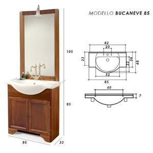 Mobile bagno classico finto decape posot class for Vendo mobile bagno
