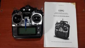 Radiocomando FUTABA T12FG in mode 1 con modulo TM-Ghz
