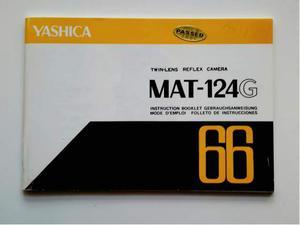 YASHICA MAT 124 G Libretto Istruzioni