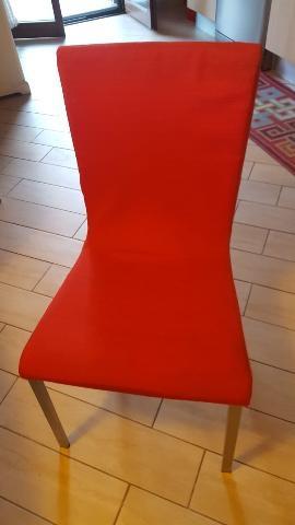 N 4 sedie rosse tipo jules ikea posot class for Sedie cucina rosse