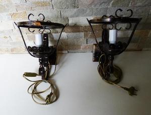 N 2 LAMPADE IN FERRO BATTUTO