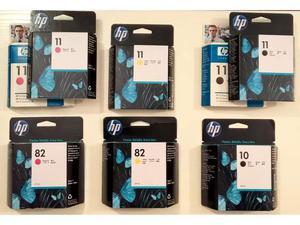 KIT 3 CARTUCCE (HP 10 e 82) + 5 TESTINE (HP 11) ORIGINALI 69