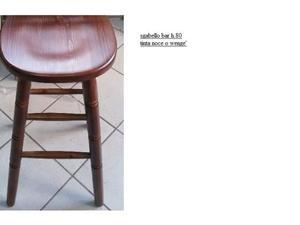 Sgabelli pub in legno con gambe e seduta tornita