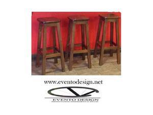 Tavolo snack, legno massello 70x70 h110, in colore