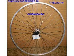 Cerchio ruota posteriore bici da 28 alluminio