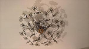 Plafoniera Cristallo Swarovski : Plafoniera cristallo di murano foglie posot class