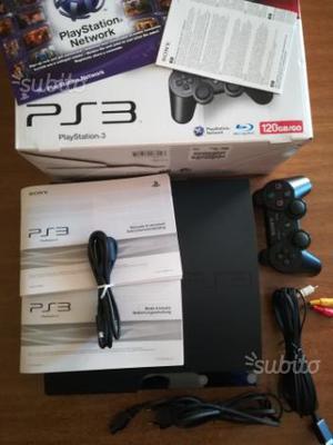 Play station 3 slim 120gb con giochi