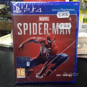 Playstation PS4 Marvel Spiderman Spider Man nuovo